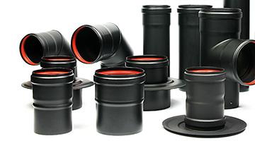 Rookgaskanalen voor ketels en pelletkachels